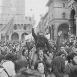 Un corteo del Settantasette a Bologna